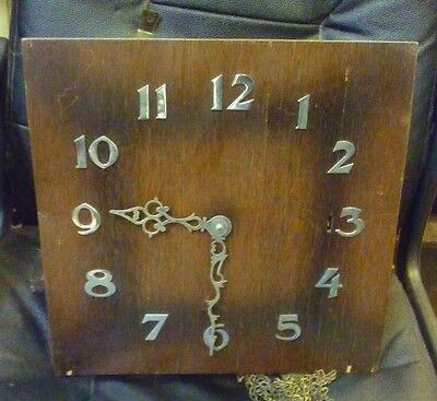 Original 1930s Longcase Grandfather Clock Spring Driven Chimeing Movement+Dial(3