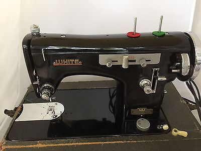 WHITE ZIGZAG 40 Sewing Machine Antique Vintage 4040 PicClick Gorgeous White Sewing Machine Value
