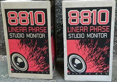 "VINTAGE 8810 Linear Phase Studio Monitor Speakers 12"" Woofer 12"" Midrange"