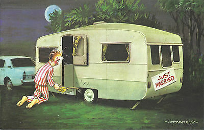 Vintage 1970's Bamforth COMIC Postcard (as new condition) Just married #476