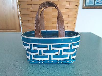Longaberger 2017  Take Me With You Booking basket in teal w/ protector NEW