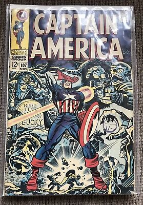 Marvel Captain America # 107 Nov 1968 Avengers Red Skull Silver Age