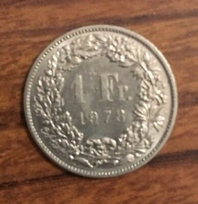 1 Swiss Franc Swiss National Bank Money Currency Switzerland Franc Coin