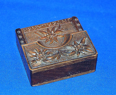 A beautiful Swiss carved wooden pocket watch stand, Edelweiss