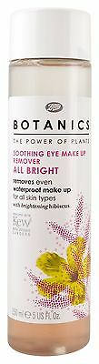 Boots Botanics All Bright Soothing Eye Make Up Remover 150ml NEW