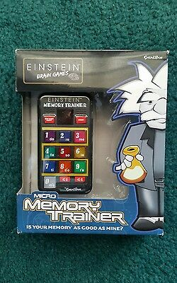 Einstein Brain Games Micro Memory Trainer Handheld Electronic Game, Excalibur
