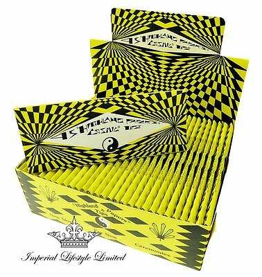 Highland Yellow & Black Cosmic King-Size Rolling Papers & Astrological Roll Tips