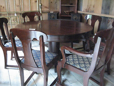 Empire Mahogany Dining Room Table with Eight Chairs
