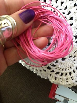 Waxed Cotton Cord 5 Metre length Hot Pink 1 Mm Thickness DIY Necklace Jewellery