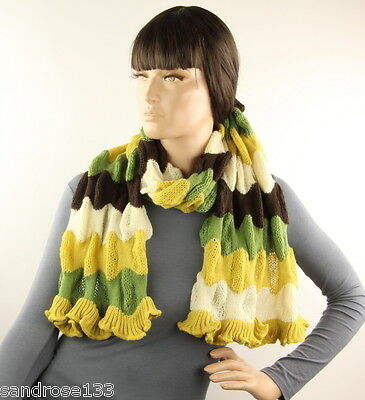LONG KNIT SCARF with Stripes 229