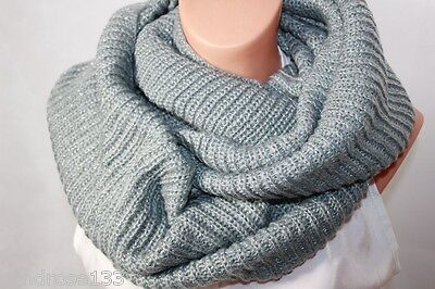 AUTUMN WINTER Loop Scarf KNITTED GREY 210