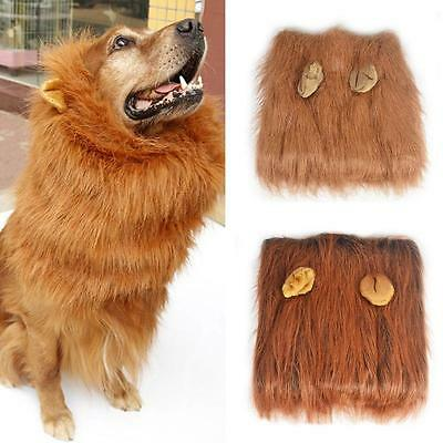 Pet Costume Lion Mane Wig Hair for Large Dog Halloween Clothes Fancy Dress up BJ