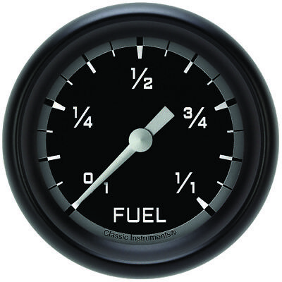 "Classic Instruments (AX309GBPF) Autocross Gray 2 5/8"" Fuel Gauge"