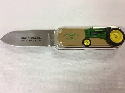 John Deere Pocket Knife 1948 Model B Stainless Steel Tractor Farming Agriculture