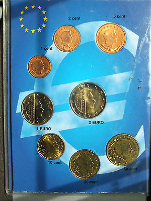 Luxembourg 2002 - Set of 8 Euro Coins (UNC)