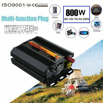 2000W Voiture Power Inverter DC 12V AC 220V Convertisseur électronique Port USB
