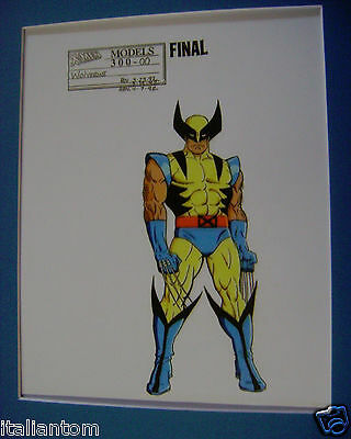 Matted X-Men X-Man Wolverine Comics Cel Animation Art Cell