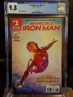 Invincible Iron Man #1 Riri Williams Ironheart CGC 9.8 Marvel Now