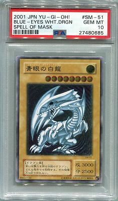 Yu-Gi-Oh JAPANESE 2001 BLUE EYES WHITE DRAGON SM-51 ULTIMATE PSA 10 GEM MINT