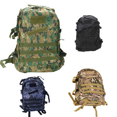 40L Outdoor Molle 3D Military Tactical Backpack Rucksack Hiking Trekking Day Bag
