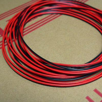 Stranded UL 2468 PVC 2P Red Black Flat Ribbon Wire Cable 16/18/20/24/26/28AWG ES