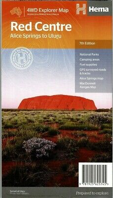 Hema Red Centre Alice Springs To Uluru State Map 6Th Edition