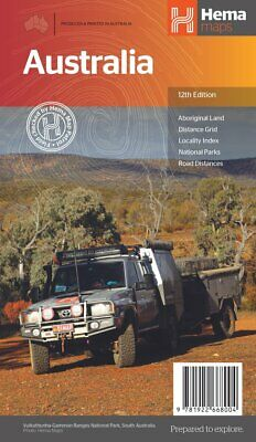 Hema Australia Large Map 11Th Edition - Roads National Parks Planning
