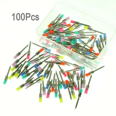 Mixed Color Nylon Latch Flat Dental Polishing Polisher Prophy Brush Tools 100Pcs