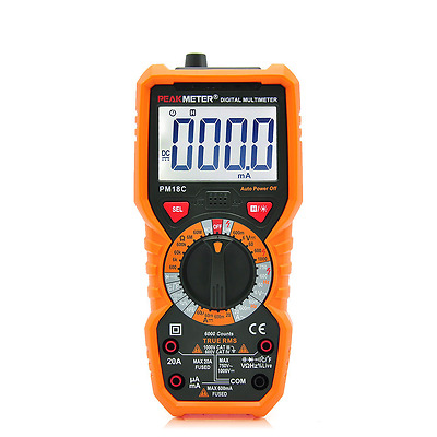 Multimeter PM18C Peakmeter Profi DMM True RMS 6000 Counts  NCV  Lichtquelle