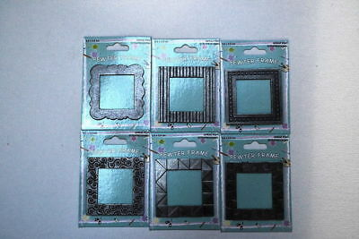 24 x 3.5cm scrapbook pewter photo frames reduced to clear