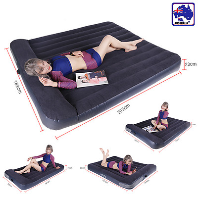 Inflatable Air Bed Mattress Raised w/ Built-In Pump Camping Multi-Sizes OPIS718