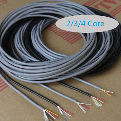 UL 2547 2/3/4 Core Copper Wire Shielded Audio Headphone Signal Cable 300V ES