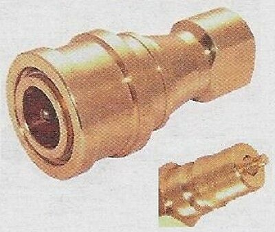 Quick Release Valved Coupler 3/4bspp ISO B Brass