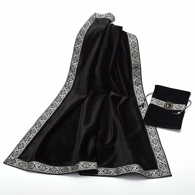 Altar Tarot Table Cloth Pouch Tablecloth Black Decor Divination Square Wicca