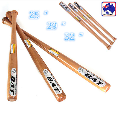 "25"" 29"" 32"" Wood Baseball Bat Self-defense Safety Exercise Training ONSQ760"
