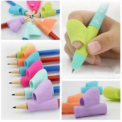 3PCS Children Pencil Holder Pen Writing Aid Grip Posture Correction Tool New