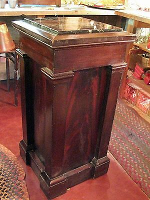 Antique Mahogany and Green Marble Column from Elks Club