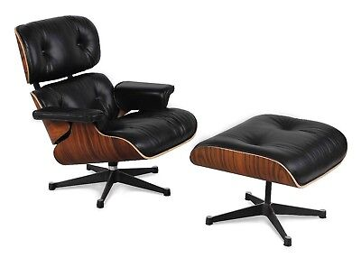 Eames Lounge Chair and Ottoman Replica 100% Full Grain Leather from Italy