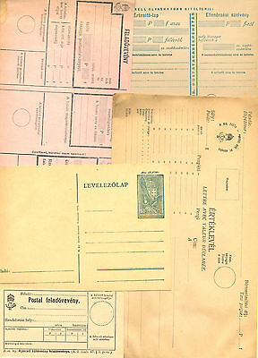 Hungary – Lot Of Various Old Postal Forms And Printed Matters. Rarely Seen. Inte