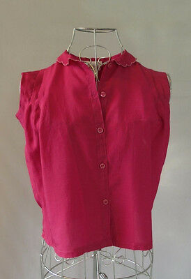 Vintage Girls' Pink Blouse - Size 10 - 1960s, 1970s