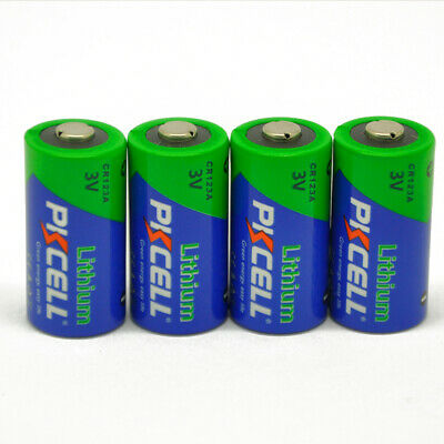 8 X PKCELL CR123A DL123A PL123A CR17345 EL123A 3V Lithium Camera Photo Batteries