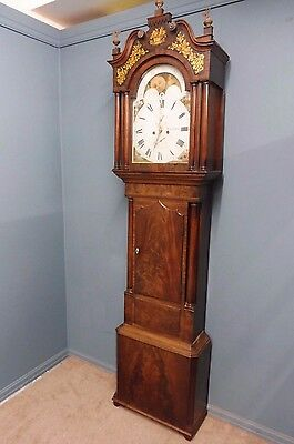 Mahogany 8 Day Grandfather Clock Liverpool Circa 1780
