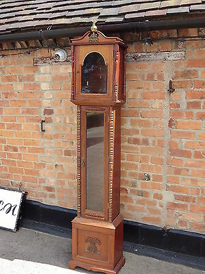 "Vintage Grandfather Clock Case 87"" Tall Querky Cupboard Bird Table Etc Etc"