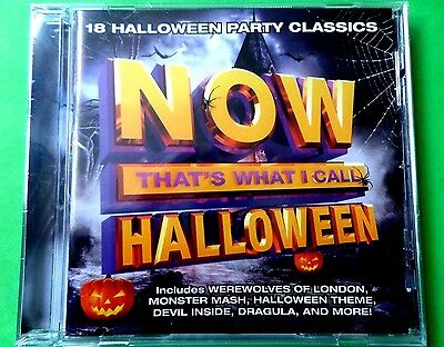 Now  Halloween  -  That's What I Call Music   18 Track Cd  *new*