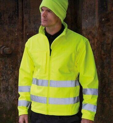 Result Safe-Guard Hi-Vis Tech Soft Shell Jacket Breathable WIndproof (R117X)
