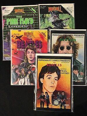 Unauthorized Rockstar Comics Beatles Pink Floyd Grateful Dead lot Personality TK
