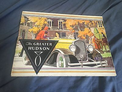1931 Hudson Greater Eight Color Brochure Catalog Prospekt