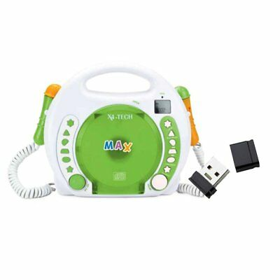 X4-Tech BobbyJoey-CD Tragbarer Kinder CD-Player MP3 Karoke + 4 GB USB-Stick