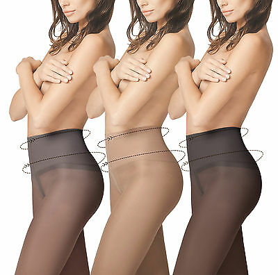 Slimming Fit Control Fiore Tights 40 Denier Slimming Effect Shaping Tights New