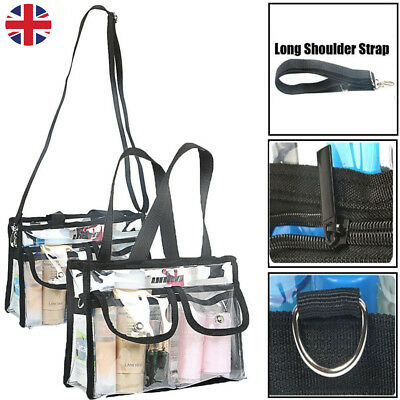 Waterproof Cosmetic Makeup Toiletry Clear PVC Travel Wash Bag Holder Pouch Set